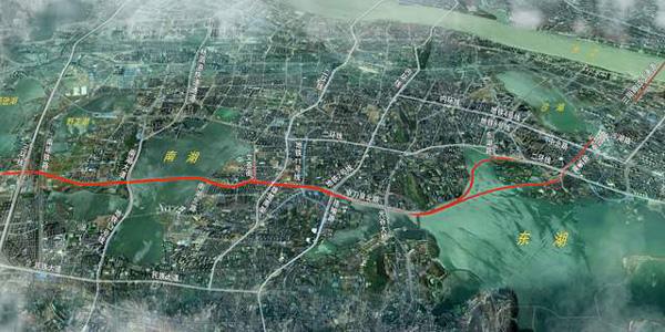 武汉开建两湖隧道