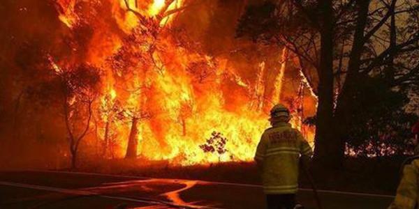 澳大利亚大火染成血色天空
